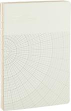Monograph - Geometric notesbog 17,7x25,2cm, lysegrå
