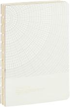 Monograph - Geometric notesbog 13x18cm, lysegrå