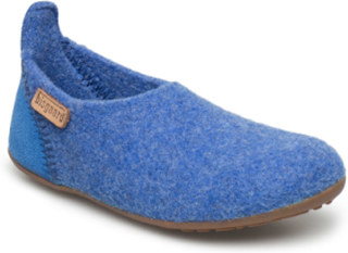 Home Shoe - Wool Basic Slippers Inneskor Blå BISGAARD