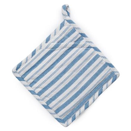 Lexington - Striped Grydelap, Hvid/ Blå