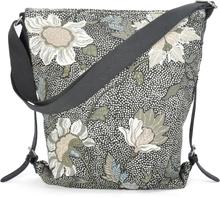 Ceannis - Flower Linen Shoulder Bag Taske, Sort