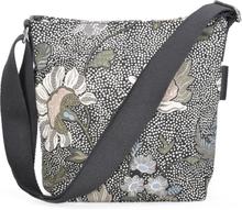 Ceannis - Flower Linen Small Shoulder Bag Taske, Sort