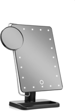 LED table mirror with little x10 magnifying