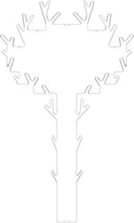 Maze - Tree Træbøjle, Hvid