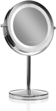 LED table mirror silver x1x10 magnifying