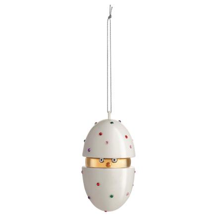 Alessi - Piacere Pulcino Home Ornament, Hvit