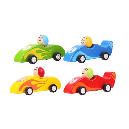 Bigjigs legetøj trække tilbage racerbil (pakke med 2) - Fruugo