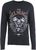 True Religion MOTORBLOCK Tshirt långärmad black