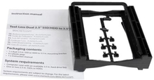 """StarTech.com Dual 2.5"""" SSD/HDD Mounting Bracket for 3.5"""" Drive Bay - Tool-Less Installation - 2-Drive Adapter Bracket for Desktop Computer (BRACKET22"""