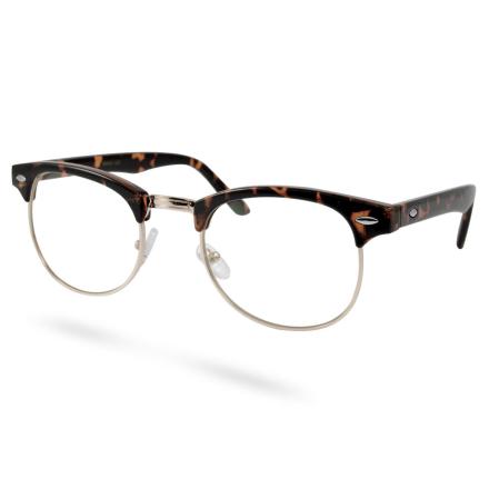 Brune/Guld Transparente Vintage Briller