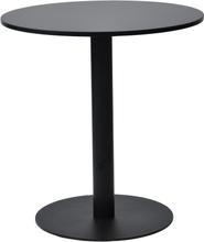 Troy matbord i Svart - 70cm i diameter.