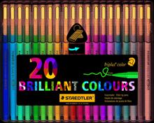 Fiberspetspenna Triplus Color 1,0mm ass (20)