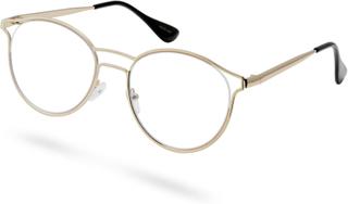 Brainiac Glasögon med Guldfärgade Bågar