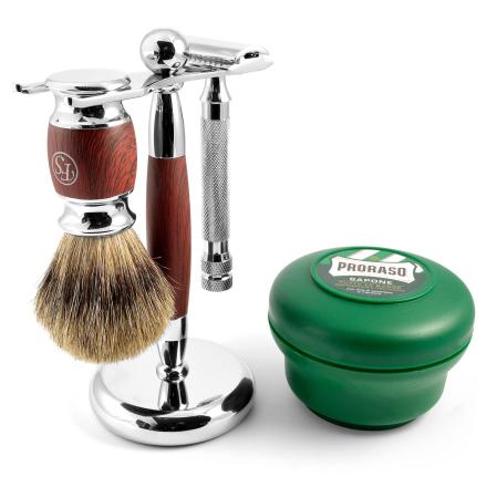 Komplet Barbersæt i Rosentræ - Trendhim