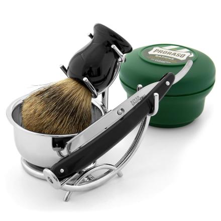 Stilfuldt Barberingssæt med Ragekniv & Udskiftelige Blade - Trendhim