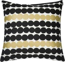 Marimekko Räsymatto tyynynpäällinen 50 x 50 cm, valkoinen-kulta-musta