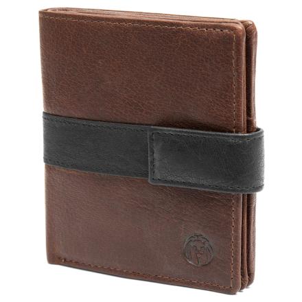 Mørkebrun & Sort Lodret Montreal RFID-Læderpung