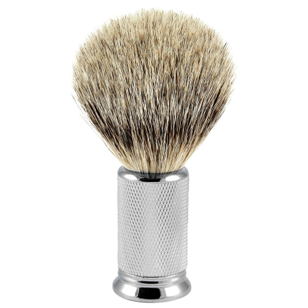Metal Silvertip Badger Barberkost