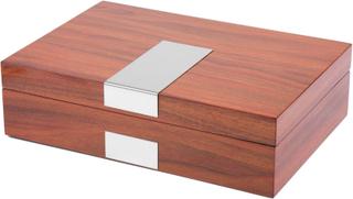 Klassisk Silver & Körsbär Klocklåda - 8 klockor