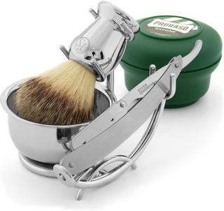Barberarstil Rakkniv med utbytbara rakblad Set