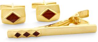 Guld och Tigeröga 925s Långt Set