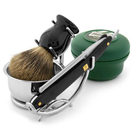 Barbersæt med Ragekniv i Mahogni - Trendhim