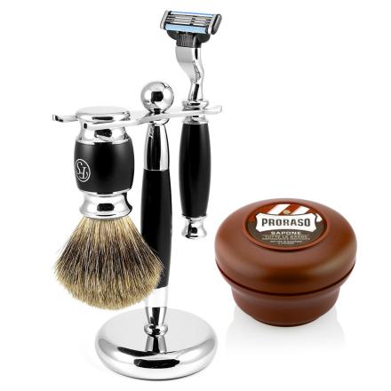Sort Modena Barbersæt - Trendhim