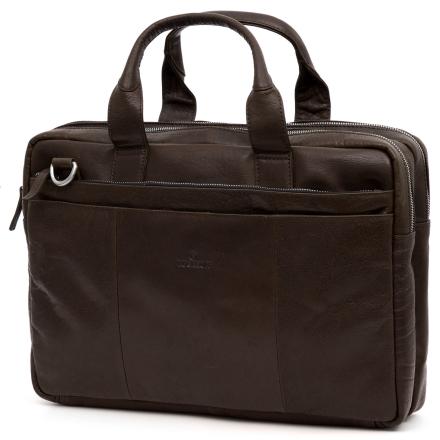 Mørkebrun Montreal Computertaske i Læder