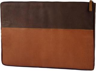 Oxford Brun och Ljusbrun Small Laptopfodral i Läder c840d0240992f