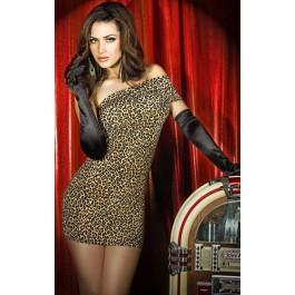 Minidress, brown leopard