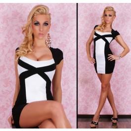 White Black Sexy Party Dress