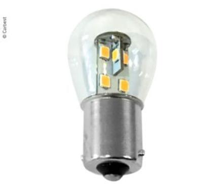LED BA15S, 0,7W, 60 LUMEN 16 VARMHVITE SMD