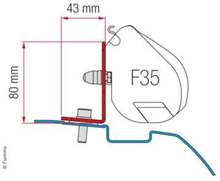 FIAMMA ADAPTER NISSAN NV200 / EVALIA FOR F35