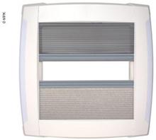 Takluke Visionstar m per 40x40 cm hvit m LED, røykglass, dobbelplissert