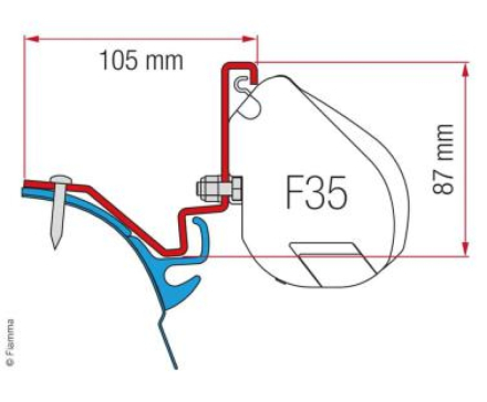 ADAPTER FOR F35, VW T6 LR WESTFALIA KEPLER