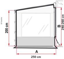 Fiamma side Pro Caravanstore XL sidedel med vindu