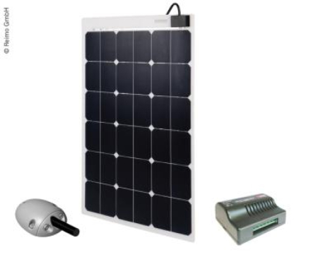 SOLCELLEPANEL 80W M.LADEREGL
