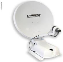 Carbest antenne 60 Duo hvit, 60 cm, 2 satellitter+LCD-skjerm