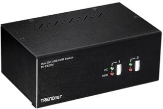 TRENDnet TK-232DV - KVM / lyd / USB-svitsj - 2 x KVM/lyd/USB - 1 lokalbruker - stasjonær