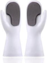 Diskhandskar i silikon med disksvamp