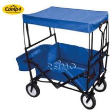 Trekkvogn med tak blå