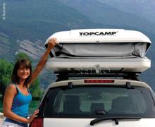 Taktelt TopCamp-XL medium 230x145x30/150 cm, grå
