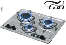 Can kokeapparat 3-bluss rustfritt stål 470x360x40+90 mm