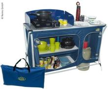 Camp4 campingkjøkken Cuccina quick med vask, blå