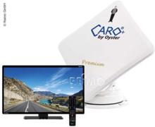 Satellittflatantenne Caro® +Premium med 19 Oyster® tv