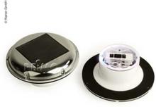 Carbest solcelleventilator 215 mm, solenergi og batteri, med nattlys