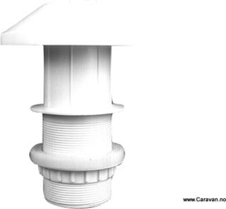 Skorsten til ventilator med 65 mm slange