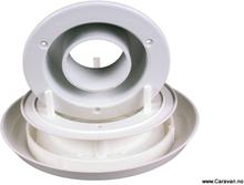 Selvventilerende takventil til ventilator, hvit plast