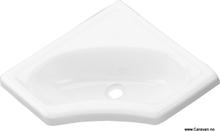Hjørnevask, hvit, 445 mm