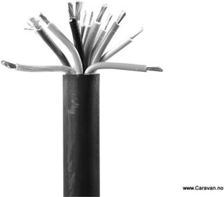 13-LEDET PVC KABEL 3 X 2,5 MM2 + 10 X 1,5 MM2, SORT